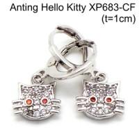 Anting Hello Kitty Perhiasan Lapis Emas Aksesoris Wanita XP683-CF
