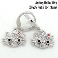 Anting Hello Kitty Perhiasan Lapis Emas Aksesoris Wanita XP435 Putih