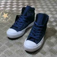 sepatu converse all star tinggi navy pria wanita
