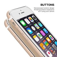iBuy Iphone 6 & 6s Bumper GOLD Stainless + WHITE List Flexible Casing