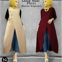 Jual Termurah 6147/long vest katun/long vest jeans/cardigan rajut/long vest Murah