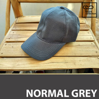 Jual Topi Baseball Polos Normal Grey Murah