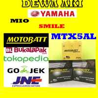 Aki Gel Kering YAMAHA MIO SMILE Motobatt MTX5AL / GM5Z3B Aki GS YUASA