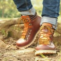 harga Sepatu Gunung Boots Pria Touring Bahan Kulit Premium [ Waterproof ] Tokopedia.com