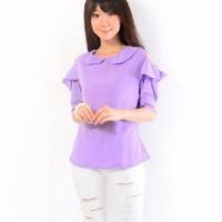 Jual Promo [Blouse Arumi SW] pakaian wanita atasan twiscone ungu Murah