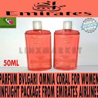 PARFUM BVLGARI OMNIA CORAL FOR WOMEN FIRST CLASS EMIRATES AIRLINES