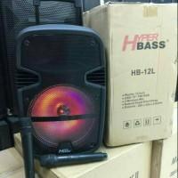 Speaker Portable Meeting Wireles HYPER BASS HB-12L (12 INCH)