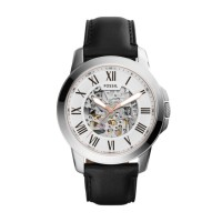 Jam Tangan Pria Fossil ME3101 Grant Automatic Black Leather Watch