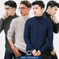 Jual Sweater Rajut Pria Gomuda Cord TurtleNeck Murah