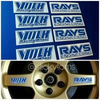 Stiker Velg Mobil Volk Rays Engineering TE37