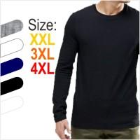 Jual Gudang Kaos Big Size - Kaos Lengan Panjang Jumbo Big Size 4XL Murah