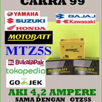 Aki motor Gel Kering Motobatt MTZ5S / GTZ5S Aki Tanpa Perawatan