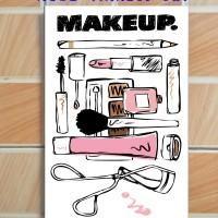 Jual Pajangan Dinding Poster Art Kayu Unik 20x30-Makeup Series Murah