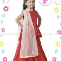 harga Sari India Murah Dress Red Ruffle  Baju Nuslim Anak Impor Tokopedia.com