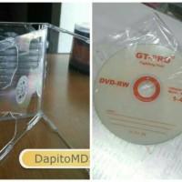 DVD RW & Casing Mika Bening Tebal & Segel DVD Kosong Ecer
