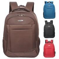 Real Polo Tas Ransel Laptop Waterproof RP [Free Bag Cover]