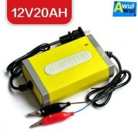 Cas Aki Motor Mobil Skuter listrik 12V20AH Battery Charger Aki