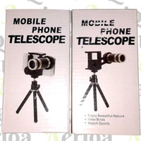 Jual Lensa kamera hp Tele Zoom 8x jarak jauh Clip Lipat universal tripod Murah