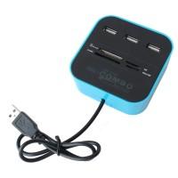USB HUB 3 PORT DAN CARD READER 4 SLOT COMBO / USB HUB + CARD READER