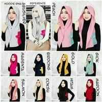harga (hijab, Khimar, Scarf, Kerudung) Jilbab Hoodie Instan Rina Nose Tokopedia.com