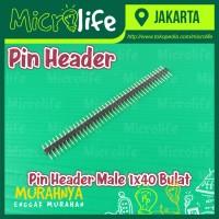 Pin Header Male 1x40 Bulat Round