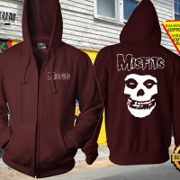 Jaket Sweater Zipper Hoodie Jumper Gambar Desain Band MISFITS 3 Keren