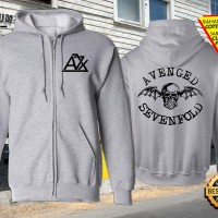 Jaket Sweater Zipper Hoodie Gambar Desain Band Avenged Sevenfold 3