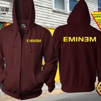 Jaket Sweater Zipper Hoodie Jumper Gambar Desain Band Eminem Keren