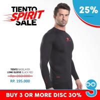 Baselayer Manset Tiento Long Sleeve Black Red Original