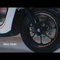 (Scoopy Sporty / Stylish eSP) Honda ORI Wheel Sticker / Stiker Velg