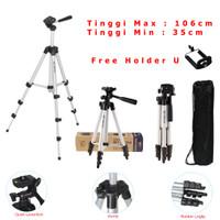 Tripod Weifeng WT-3110A + Free Holder U Handphone / HP WT 3110A
