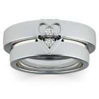 Cincin Berlian Diamond Emas - Kawin, (Wedding Ring) 60 - Murah Bandung