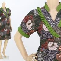 BAJU DRESS BATIK WANITA (BAJU KANTOR) MODERN MODEL TERBARU MURAH