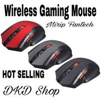 Mouse Wireless Gaming 2,4GHz 1600DPI Black Laptop Desktop