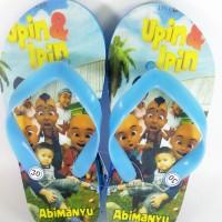 Sandal upin-ipin pake foto dan nama sendiri