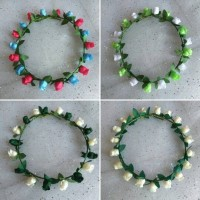 Jual FLower Crown/Mahkota bunga (SINGLE 10) Aksesoris rambut Fashion Wanita Murah