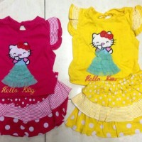 Pakaian Anak Perempuan Hello kitty Rok Pulkadot