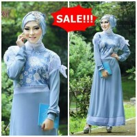 Gamis Cantik Murah (Original Branded By Fitria Style-Syaza Blue)