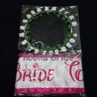 Jual slempang bride to be + flower crown / bridal shower Murah