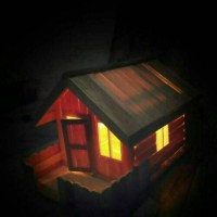 Jual Lampu Hias / Tidur Miniatur Rumah Hiasan Kado Ulang Tahun Danbo Unik Murah