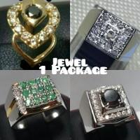 Anting Emas, Cincin Zamrud, Cincin Berlian & Cincin Berlian Hitam