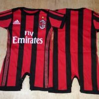 Jual Jumper / Romper Bola Bayi Baju Bayi Laki AC Milan - Home Murah