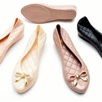 Jual Sepatu Wanita Flat Pita Elegant | Sepatu Sendal Wedges - Jelly Shoes Murah