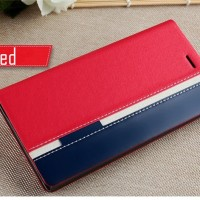 Flip Cover DENIM Lenovo A7000 K3 Note Plus Softcase Casing HP Leather