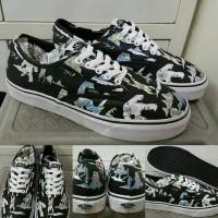 Sepatu Kets Sneakers Vans Star Wars Dark Side Black White Hitam