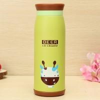 Termos Air Karakter Animal 500 ml Murah Gambar Deer / Jerapah
