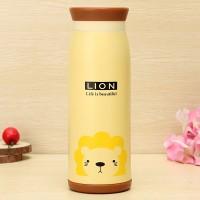 Termos Air Karakter Animal 500 ml Murah Gambar Lion / Singa
