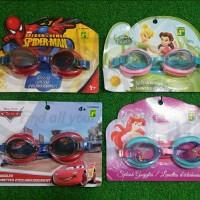 Kacamata Renang Anak Motif Kartun Spiderman, Princess, Tinkerbell,Cars