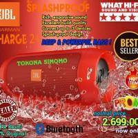 Jual JBL Charge 2+ Splashproof Portable Bluetooth Speaker (Red) Murah