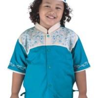 Baju Muslim Anak Laki Laki - Baju Koko Anak Plus Peci Kopeah Branded